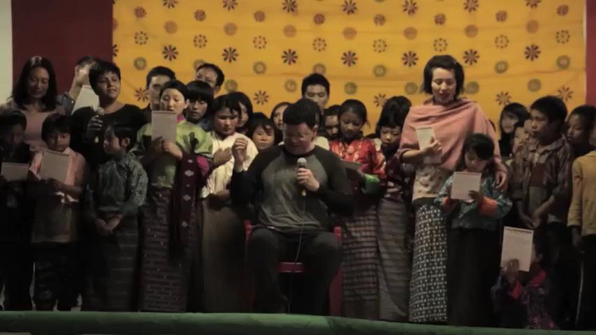 Singye Namgyel Primary School, 134 Children & Tao Calligraphy 4