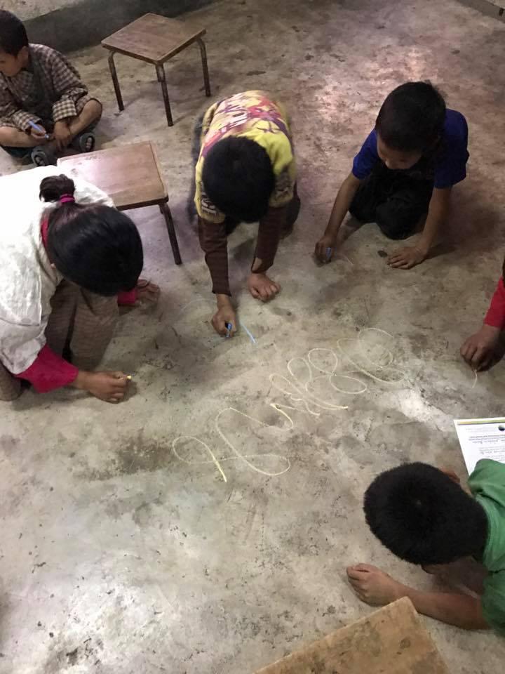 Singye Namgyel Primary School, 134 Children & Tao Calligraphy Gallery 3